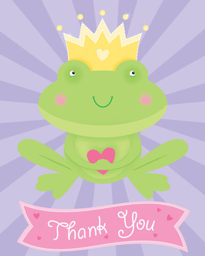 Frog Prince Thank You Notes