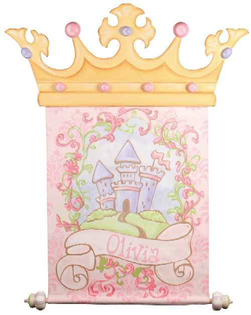 Hand Painted Castle Wall Banner