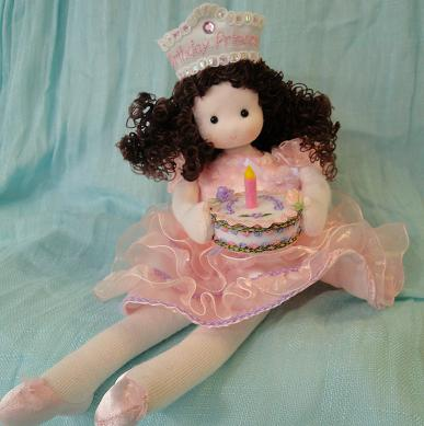 Brunette Birthday Princess Musical Doll