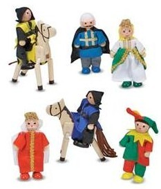Castle Play Figures - Set of 8
