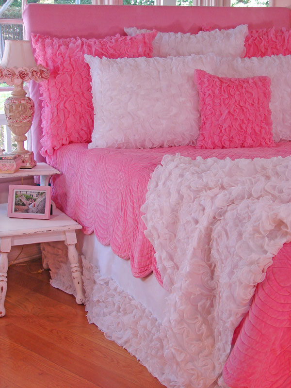 Ruffled Chiffon Pillows