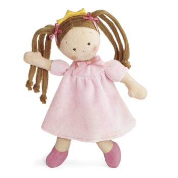 Plush Little Princess Doll Brunette