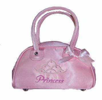 Pink Princess Bowling Bag with Silver Crown