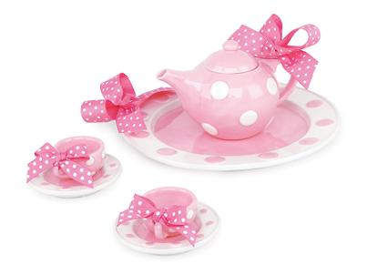 Fancy Pink Bow Tea Set
