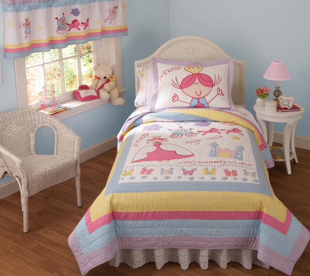 Magical Princess Castle Quilt + Sham