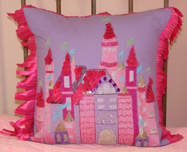 Ultra Beaded Castle Pillow