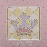 3D Princess Crown Wall Art