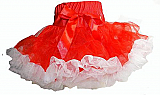 Frilly Girl Pettiskirt - Red/White