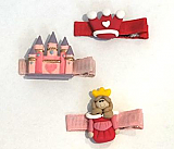 Princess Hair Clips - Set of 3
