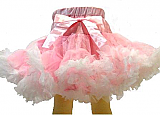Frilly Girl Petti Skirt - Light Pink/White