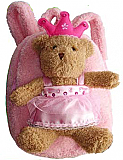 Princess Bear Plush Backpack