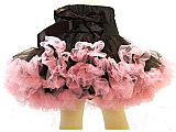 Frilly Girl Pettiskirt - Chocolate/Light Pink