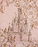 Hand Painted Castle Wall Art