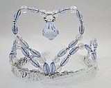 Blue and Silver Beaded Tiara