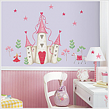 Princess Castle Peel & Stick Mural