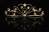 Gold Sweetheart Tiara