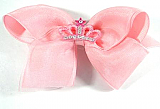 Princess Star Hair Bow - Pink
