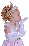 Princess Long White Gloves